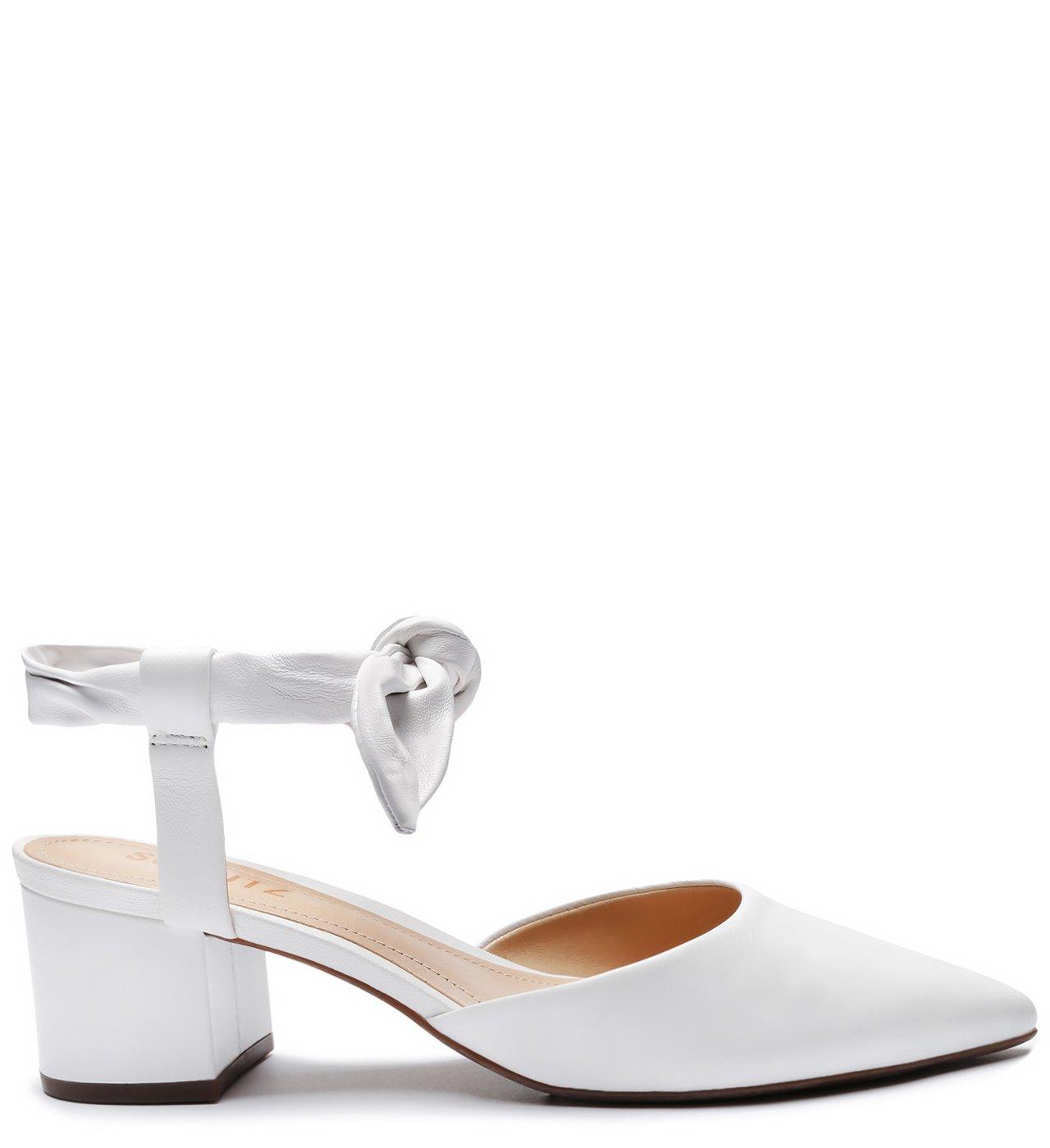 Sapato Bico Fino Block Heel Honey | Schutz