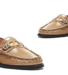 Mocassim Leather Verniz Caramel