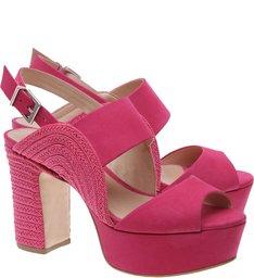 Kim Sandália Curve Block Heel Bright Rose