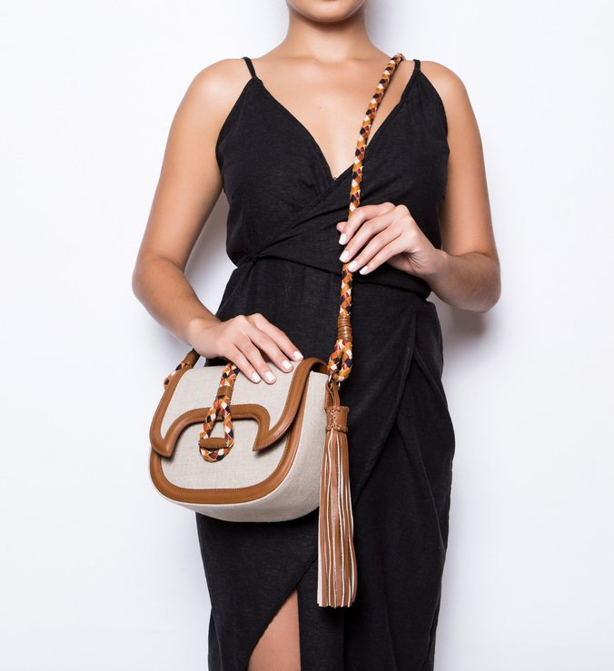 Crossbody Lana Linho Natural