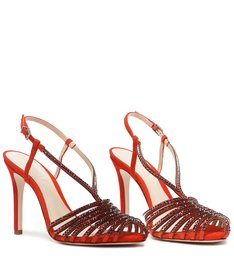 Sandália Nobuck Glam Red