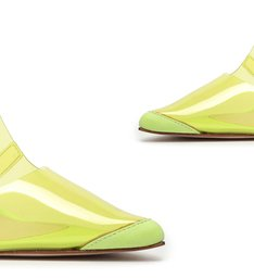 Scarpin Vinil Slingback Green