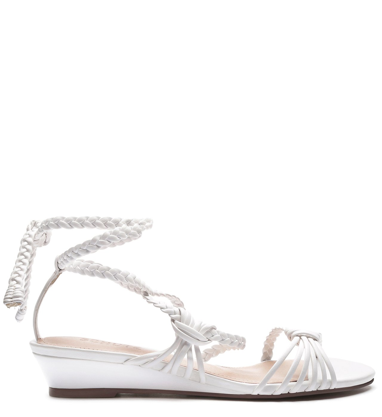 Sandália Anabela Low Strings White | Schutz