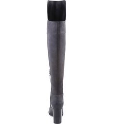 Bota Over The Knee Salto Bloco Slate Gray