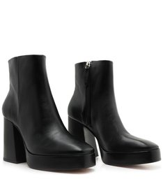 Platform Boot Skinny Black