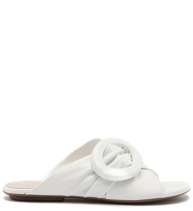 Flat Slide Buckle White | Schutz