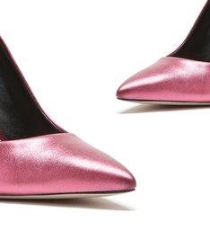 Sapato Scarpin Metalizado Rosa