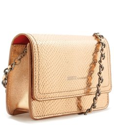CROSSBODY 4GRLS LORENA SNAKE METALLIC ROSE