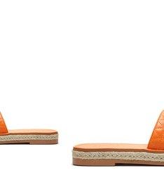 Flat Matelassê Corda Tangerine