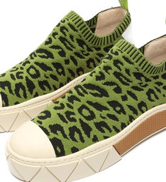 Tênis Urban Knit Animal Print Green