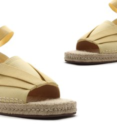 Flat Open Espadrille Yellow