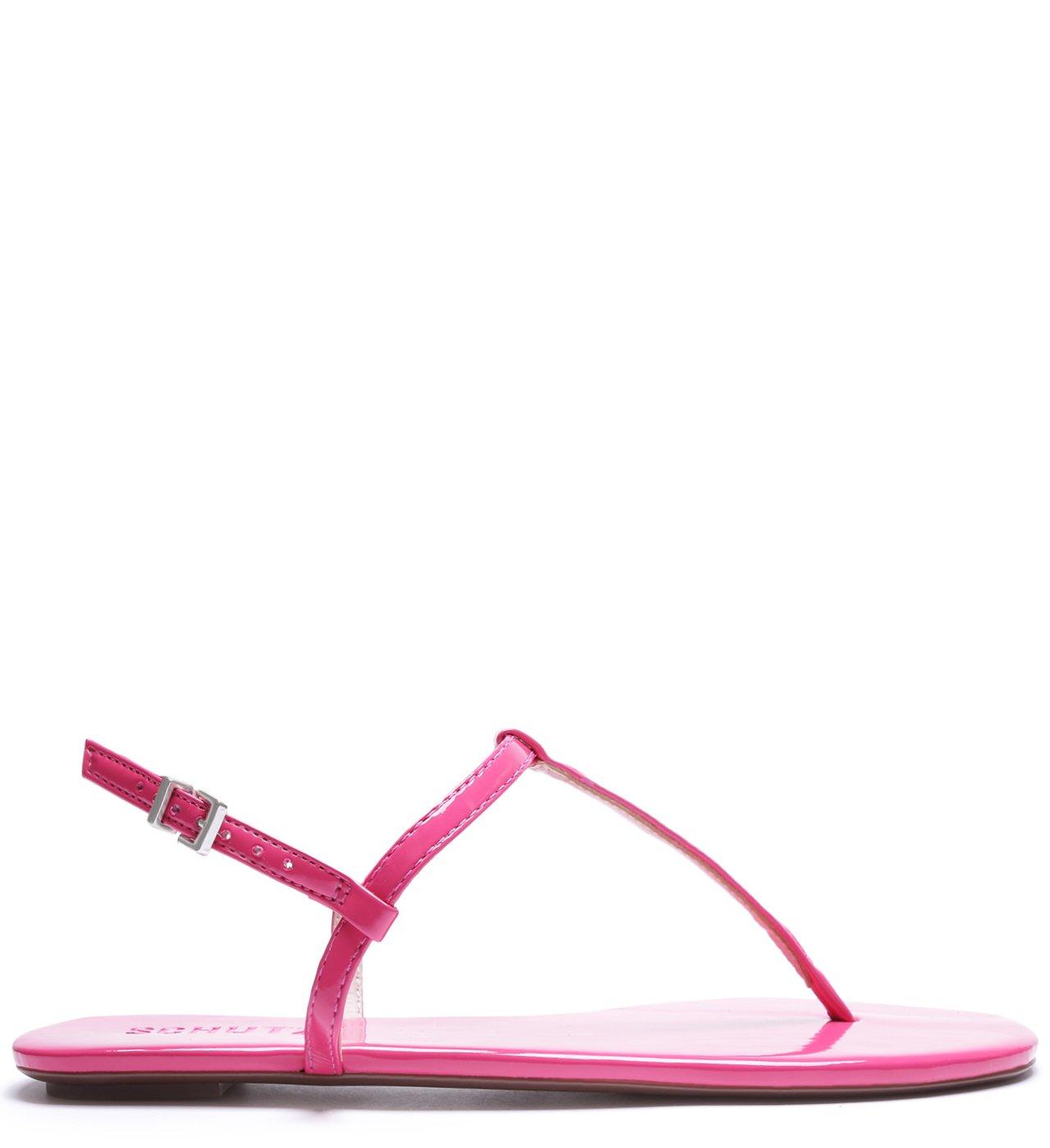 Sandália Rasteira Verniz Pink | Schutz