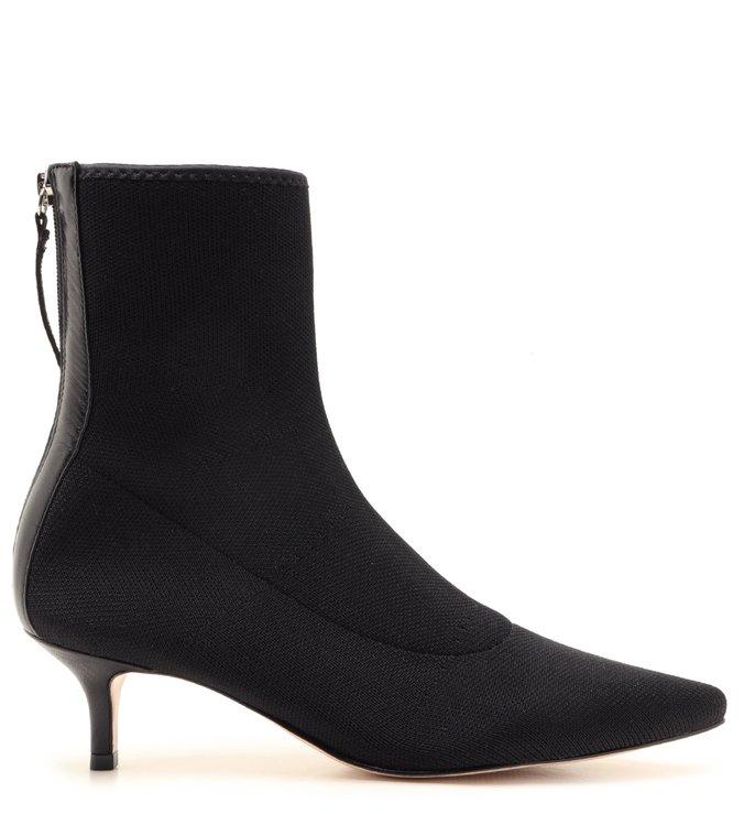 Sock Boot Kitten Heel Black | Schutz