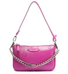 Bolsa Tiracolo Pequena Emmy Snake Pink
