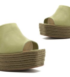 SANDÁLIA WEDGE CORDA GREEN