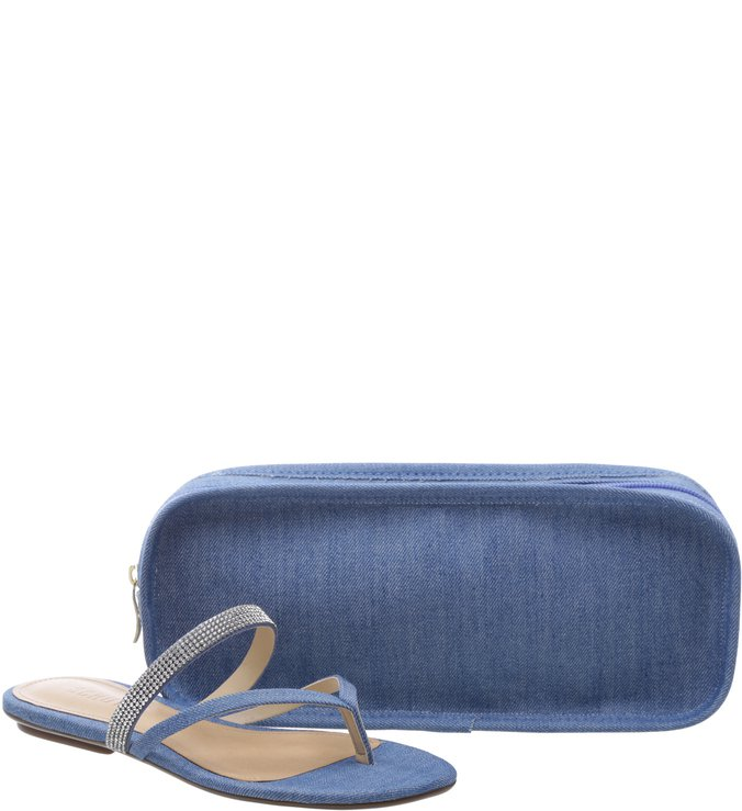 Flat Up Light Blue + Necessaire | Schutz
