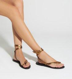 Sandália Rasteira Snake Bronze