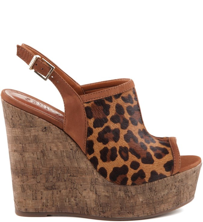 Anabela Rustic Leopard