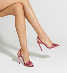 Sandália Slingback Ivy Metallic Red