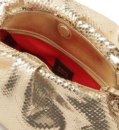 MAXI CLUTCH AVRIL BRIGHT SNAKE GOLD