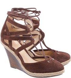 Anabela Lace Up Brownie