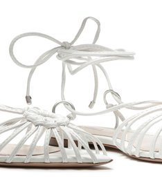 Flat Strings Lace-Up Pop White