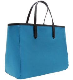 SHOPPING BAG DOUBLE SIDE NYLON BLACK
