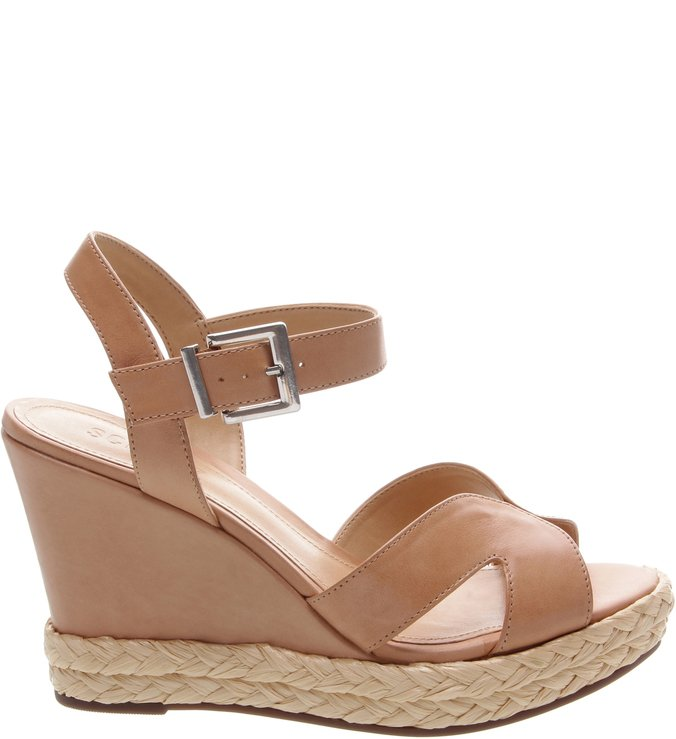 Sandália Anabela Leather Neutral | Schutz