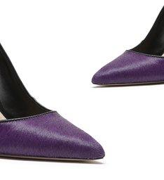 Scarpin High Pelo Purple