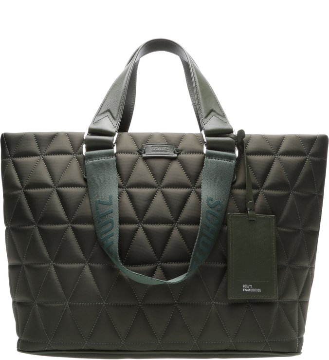 Shopping Bag Nylon Matelassê Green