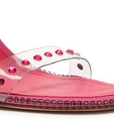 Sandália Taça Vinil Glam Pink