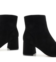 New Boot Evasê Suede Black