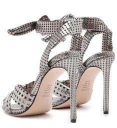 Sandália Textura Prata