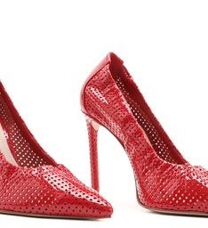 Scarpin Texture Verniz Red