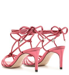 Sandália Strings Lace-Up Metallic Red
