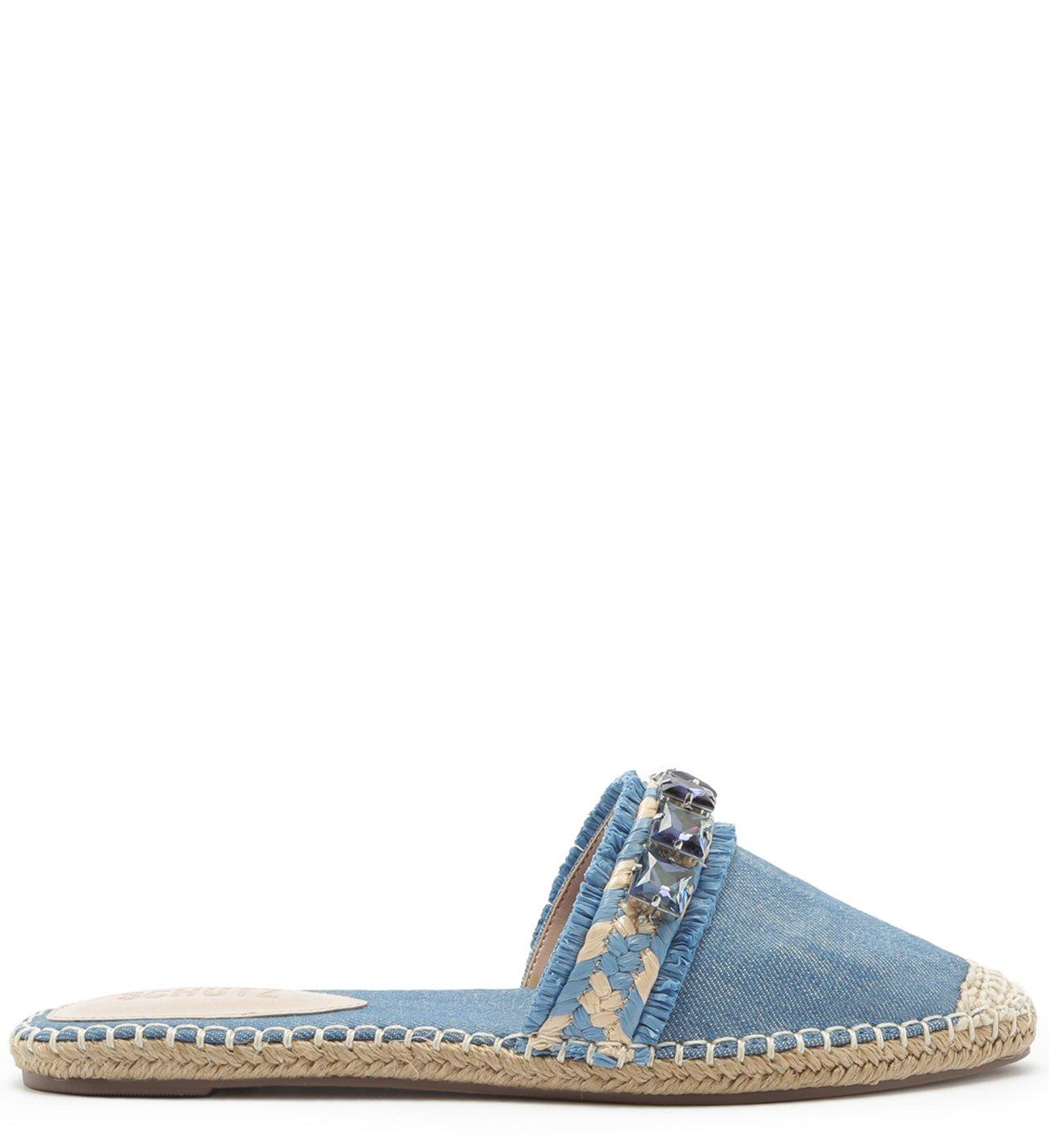 Flat Mule Espadrille Jeans | Schutz