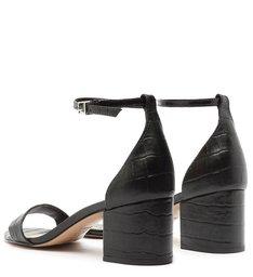 Sandália Block Heel Croco Black