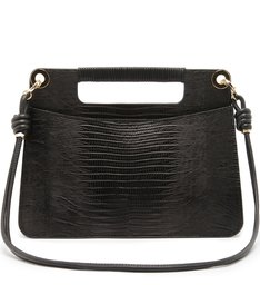 Handbag Crossbody Lezard Black