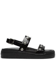 [Pre-Order] Sporty Sandal Verniz Studs Black