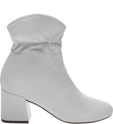 Bota Block Heel Frown White