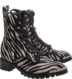 Coturno Glam Zebra