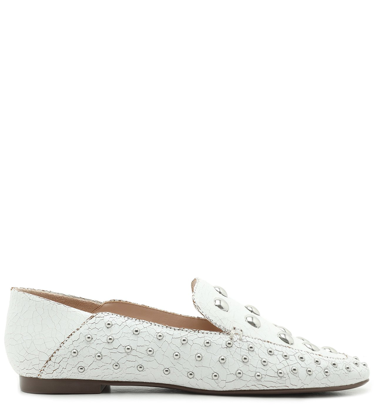 Mocassim Studs Cracked White | Schutz