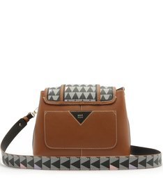 Crossbody Wallet Triangle Brown