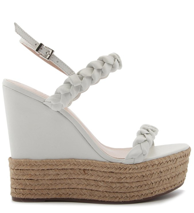 Sandália Anabela Braid Rope White