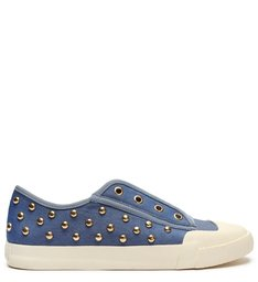 Sneaker Smash Canvas Studs Jeans