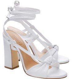 Sandália Block Heel Aventura White