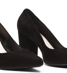 Scarpin Block Heel Nobuck Black