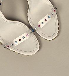[On Demand] Sandália Taça Vinil Glam White