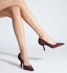Sapato Scarpin Salto Médio Verniz Marrom