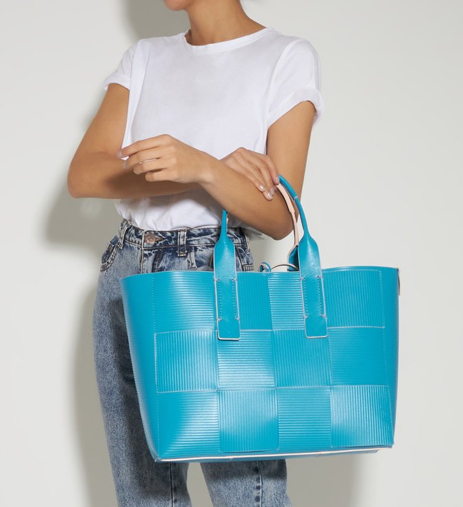 Shopping Bag Rib Me Bright Ocean